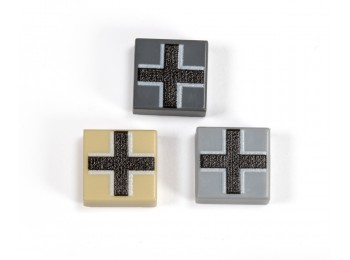 1x1 Balkenkreuz Tile - Dark Gray