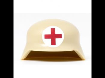 German Afrika Korps Medic Helmet - Tan