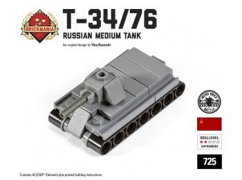 Micro Brick Battle - T-34/76 Micro-Tank