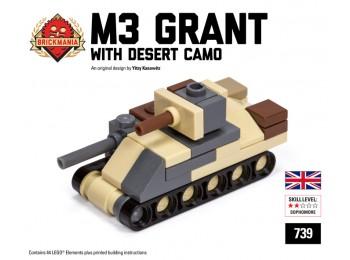 Micro Brick Battle - M3 Grant Micro-Tank