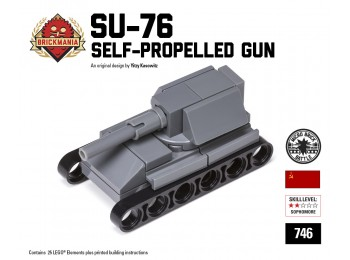 Micro Brick Battle - SU-76 Micro-gun