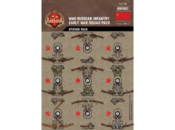 WWII Russian Infantry Early War Squad Sticker Pack