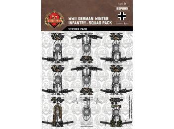 WWII German Winter Infantry Squad Sticker Pack