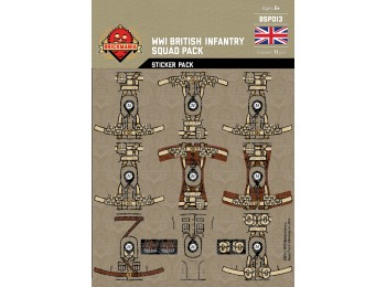 WWI British Infantry Squad Sticker Pack
