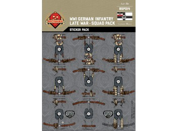 WWI German Infantry (Late War) Squad Sticker Pack