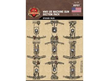 WWII US Machine Gun Section Squad Sticker Pack