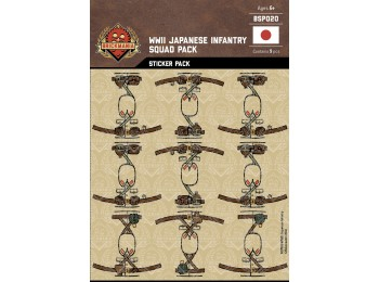 WWII Japanese Infantry Squad Sticker Pack