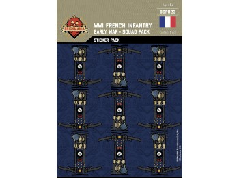 WWI French Infantry (Early War) Squad Sticker Pack