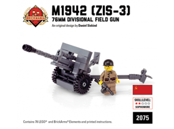 M1942 (ZIS-3) 76mm Divisional Field Gun with Russian Soldier