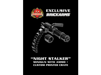 """Night Stalker"" Minigun with Bullet Chain and Crate"
