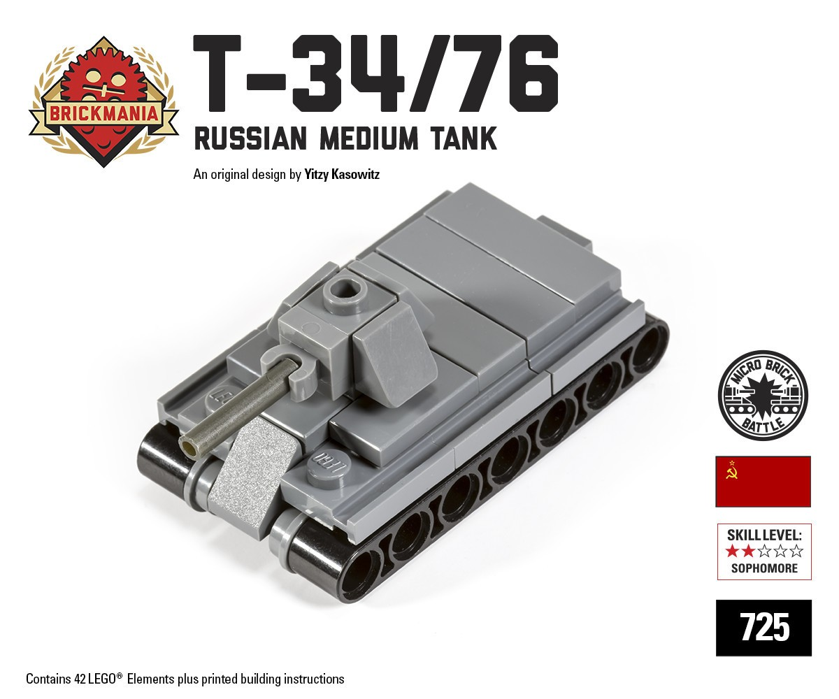 Micro Brick Battle - T-34/76 Micro-Tank Ministry-Of-Arms