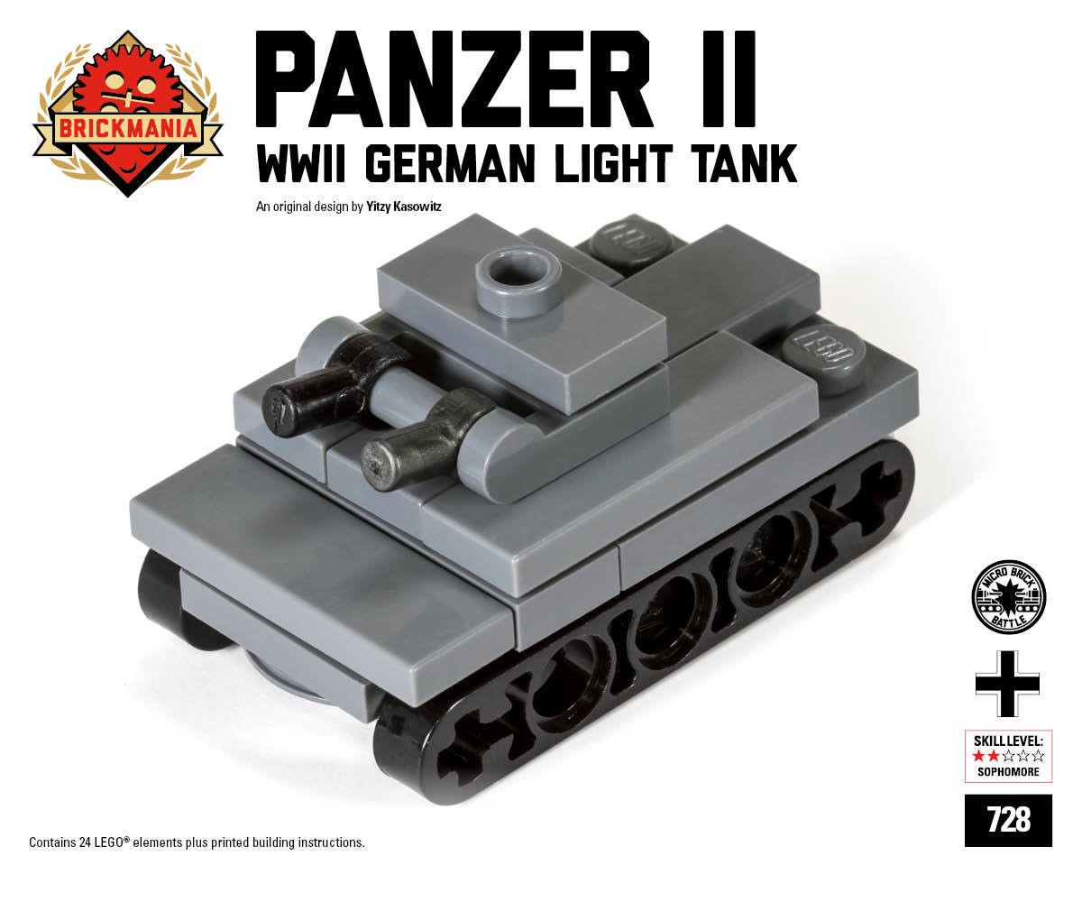 Micro Brick Battle Panzer Ii Micro Tank Ministry Of Arms Lego