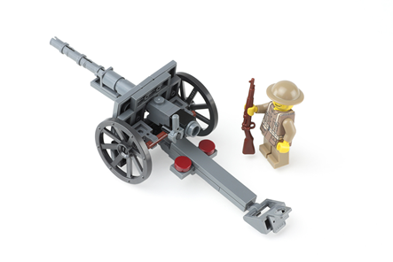 75mm M1897 Field Gun With Ww1 American Soldier Ministry Of Arms