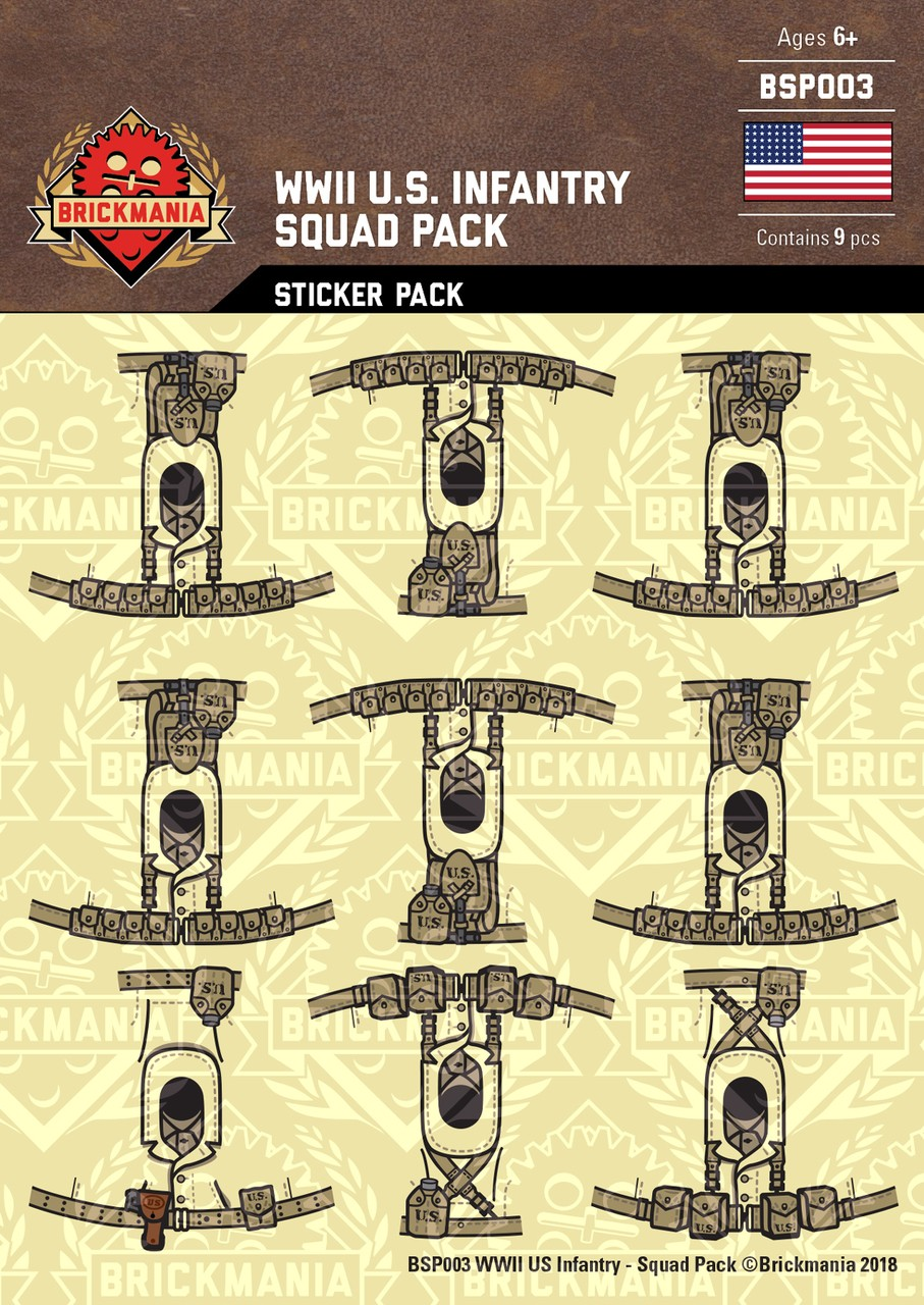 Wwii Us Infantry Squad Sticker Pack Ministry Of Arms