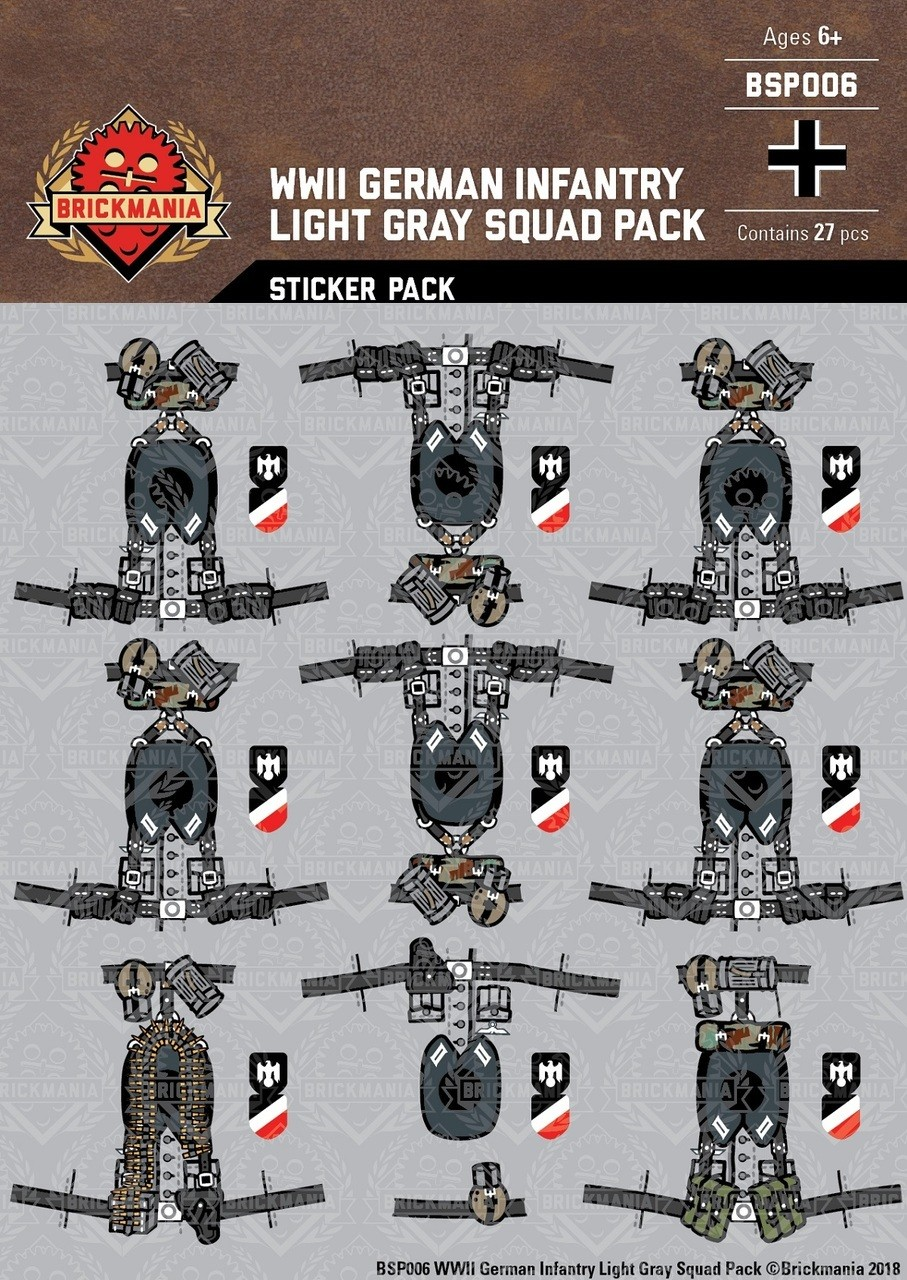 Military Tanks For Sale >> WWII German Infantry Light Gray Squad Sticker Pack ...