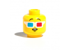 3D Glasses Head (Yellow)