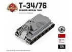 Micro Brick Battle - T-34/76 Micro-Tank