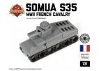 Micro Brick Battle - Somua S35 Micro-Tank