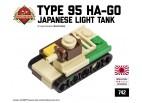 "Micro Brick Battle - Type 95 ""Ha-Go"" Micro-Tank"