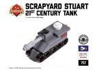 Micro Brick Battle - Scrapyard Stuart 21st Century Micro Tank
