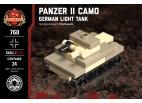 Micro Brick Battle - Panzer II Camo Micro Tank