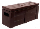 Crate With Lid - Dark Brown