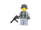 WW2 German Soldier with MP40 - Light Gray