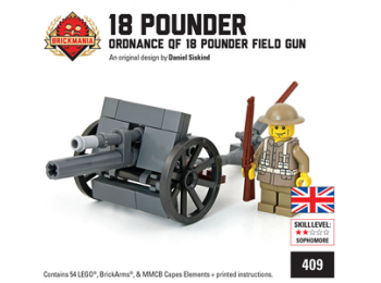 Ordnance QF 18 Pounder Field Gun with British Soldier