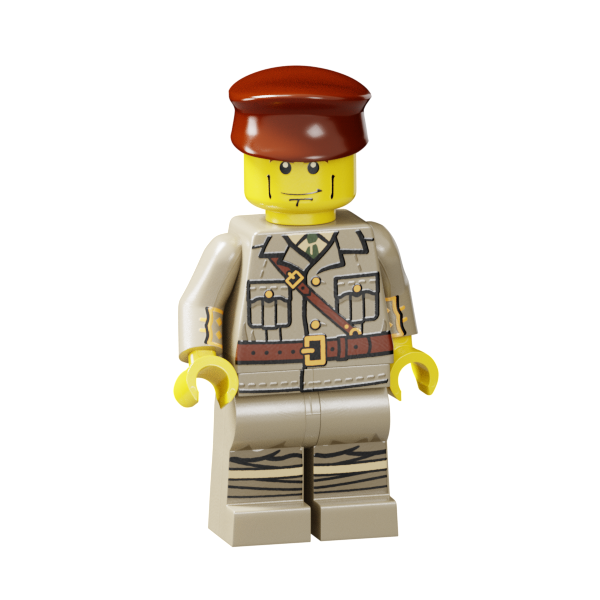 D-Type WWI British Staff Car Ministry-Of-Arms - LEGO Custom