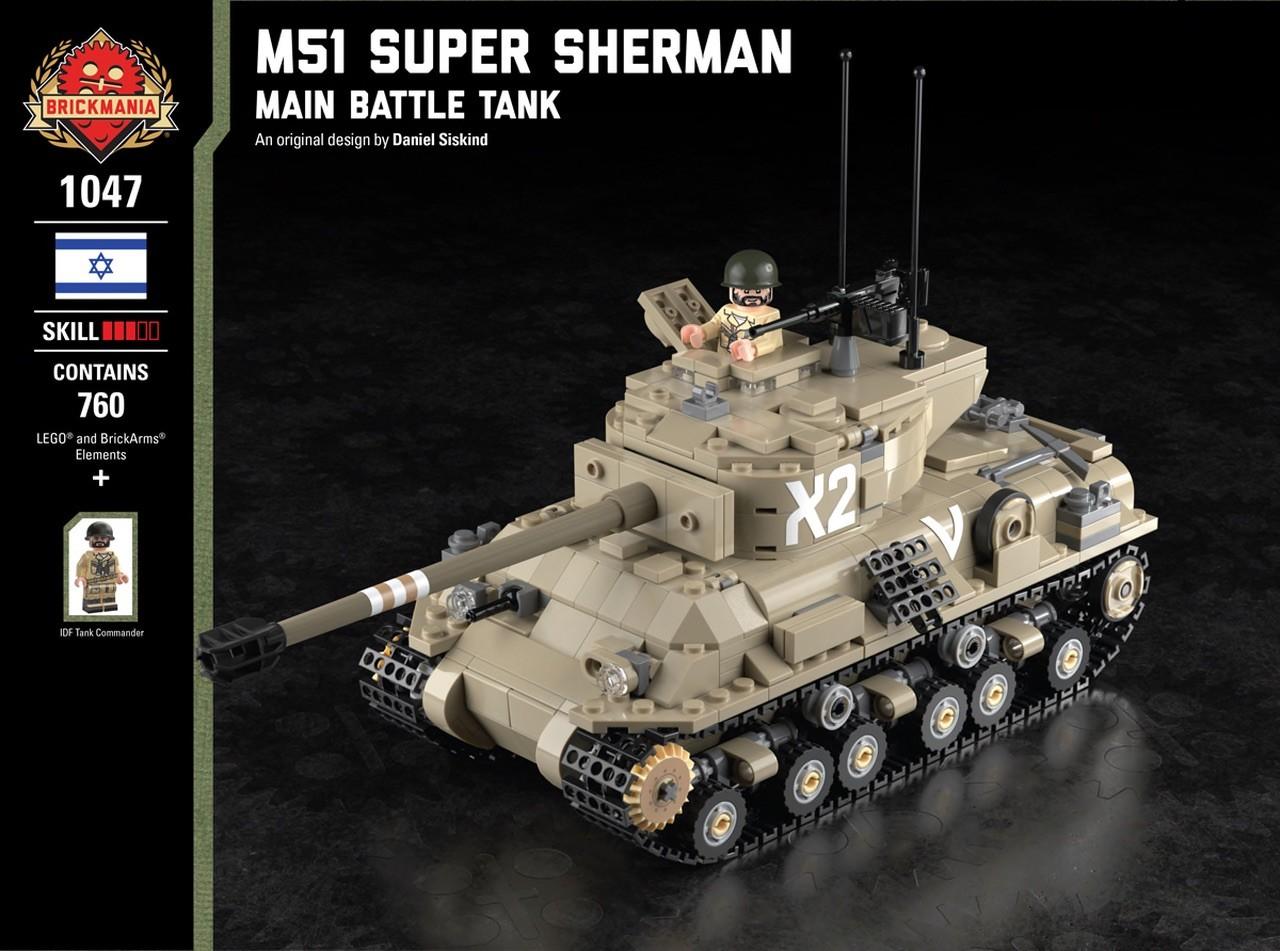 M51 Super Sherman Main Battle Tank Ministry Of Arms Lego Custom Made Toys Minifigures Lego Custom Made Military Tanks Lego Guns