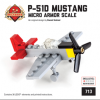 """P-51D """"Red Tail"""" Mustang - American Fighter 1/100 Scale Minikit"""