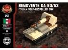 Micro Brick Battle - Semovente Da 90/53 Desert Camo Micro Tank
