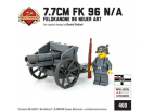 7.7 cm FK 96 N/A - Feldkanone 96 Neuer Art with German Soldier