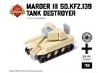 Micro Brick Battle - Marder III Sd.Kfz.139 Desert Camo Micro Tank Destroyer