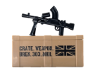Bren Gun and Printed Crate