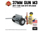 37mm Gun M3 Anti-Tank Gun with Rifleman