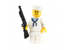 US Navy Sailor - Dress Whites with SABR Shotgun and Hex Stand